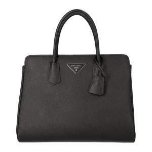 Prada Black Saffiano Leather Medium Satchel Bag