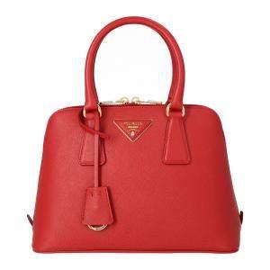 Prada Saffiano Vernice Leather Mini Top Handle Bag