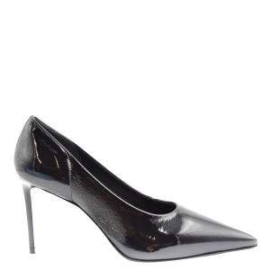Prada Black Textured Leather Pumps Size EU 35