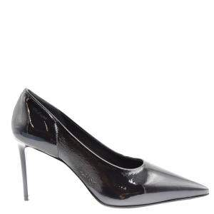 Prada Black Textured Leather Pumps Size EU 36