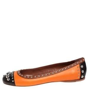 Prada Tri Color Leather Studded Ballet Flats Size 40