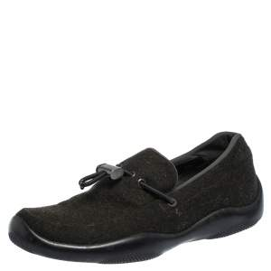 Prada Sport Vibram Green Felt Toggle Loafers Size 37