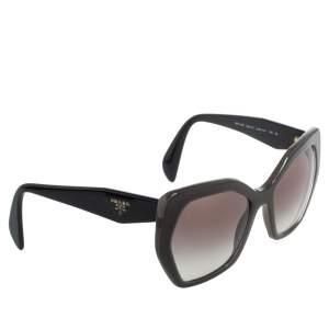 Prada Black & Opal Brown/ Brown Gradient SPR16R Oversized Sunglasses