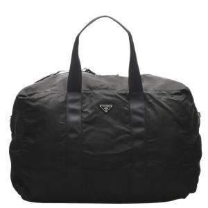 Prada Black Nylon Tessuto Travel Bag