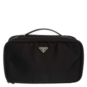 Prada Black Nylon Toiletry Pouch