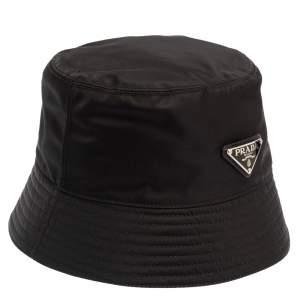 قبعة برادا باكت إعادة-نايلون أسود