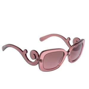 Prada Pink SPR27O Baroque Gradient Rectangle Sunglasses