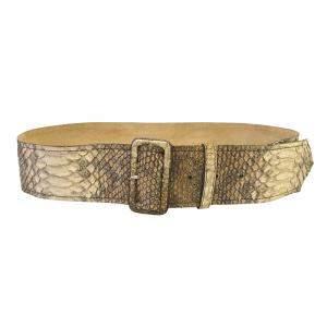 Prada Beige Python Waist Belt 85CM