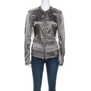 Prada Olive Green Nylon Sports Jacket M
