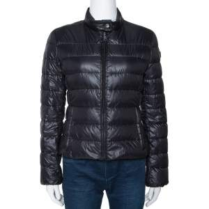 Prada Black Quilted Zip Front Puffer Jacket M