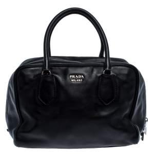 حقيبة برادا بوليتو جلد سوداء