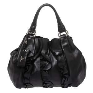 حقيبة هوبو برادا موردور كرانيش جلد أسود
