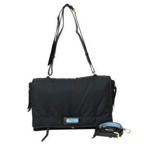 Prada Black Nylon Etiquette Messenger Bag