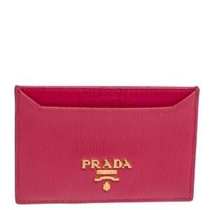 Prada Fuchsia Vitello Move Leather Card Holder