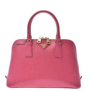Prada Pink Leather Medium Promenade Satchel