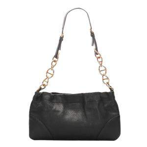 Prada Black Leather Vitello Daino Chain Shoulder Bag