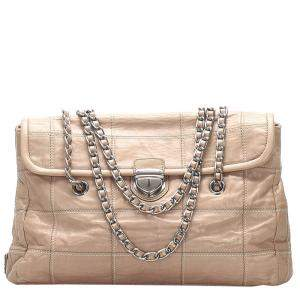 Prada Pink Leather Impuntu Chain Shoulder Bag