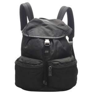 Prada Black Nylon Tessuto Backpack