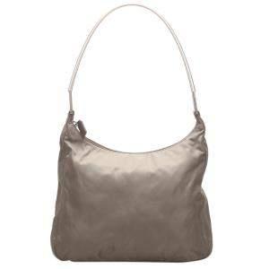 Prada Grey Nylon Tessuto Shoulder Bag
