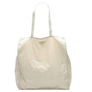 Prada White Nylon Tessuto Stampato Tote Bag