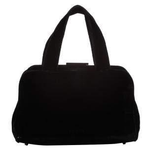 Prada Black Wool Satchel