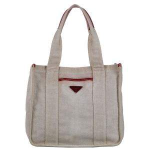 Prada Canvas Canapa Tote Bag