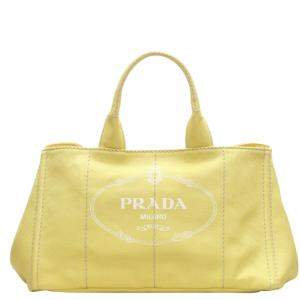 Prada Yellow Canapa Canvas Bag