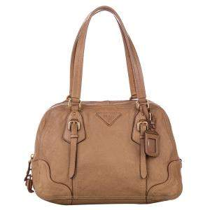 Prada Brown Leather Cervo Antik bag