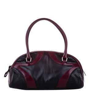Prada Black Leather Mini Bowler Bag