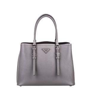 Prada Grey Saffiano leather Tote Bag