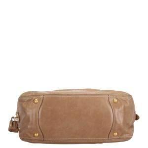 Prada Brown Vitello Lux Leather Shoulder Bag