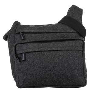 Prada Grey  Wool  Shoulder Bags