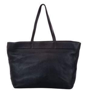 Prada Green/Dark Green Leather Tote Bag