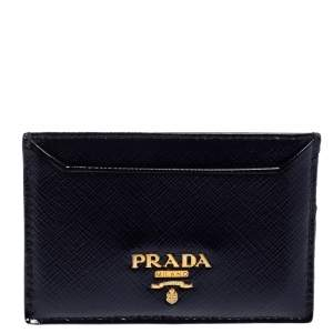 Prada Purple Patent Leather Card Holder