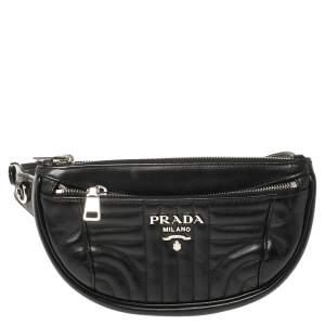 Prada Black Quilted Leather Belt Bag