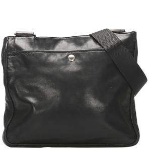 Prada Black Leather Crossbody Bag