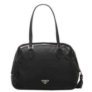 Prada Black Tessuto Nylon Shoulder Bag