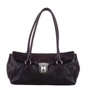 Prada Black Leather Easy Shoulder Bag