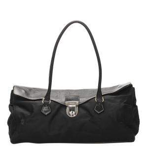 Prada Black Tessuto Easy Satchel