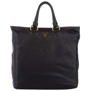 Prada Black Leather Vitello Daino Bag