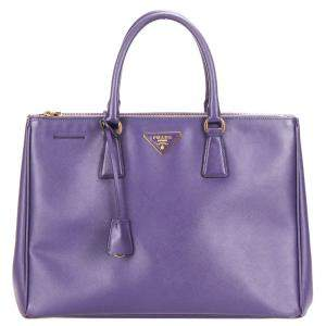 Prada Purple Saffiano Leather Galleria Tote bag