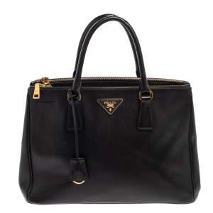 Prada Black Saffiano Leather Medium Galleria Tote