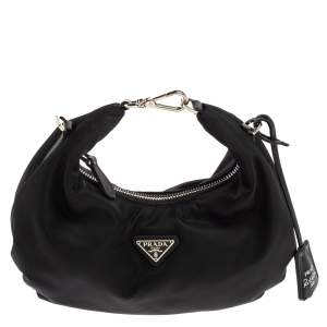 Prada Black Nylon Re-Edition 2006 Hobo