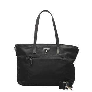 Prada Black Nylon Tessuto Satchel Bag
