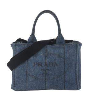 Prada Blue Denim Canapa bag