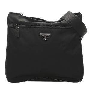 Prada Black Nylon Tessuto Shoulder Bag