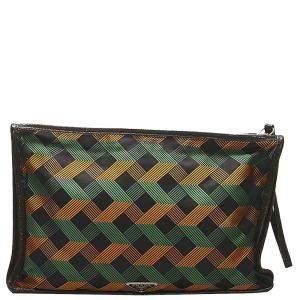 Prada Multicolor Tessuto Stampato Clutch Bag