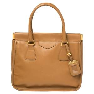 Prada Brown Leather Cannella Satchel