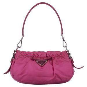 Prada Pink Nylon Tessuto Shoulder Bag