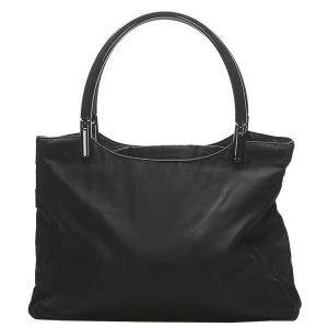Prada Black Nylon Tessuto Tote Bag